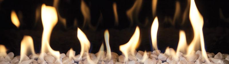 vlam inbouwhaarden op gas