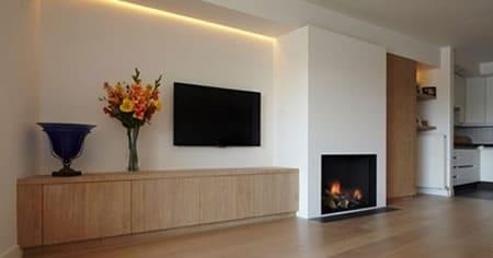 met uw gas of hout inbouwhaard samen ecologisch en duurzaam en prachtig te combineren u ziet niet alleen de warmte van het hout in uw interieur maar
